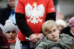 November 11, 2018 - Warsaw, Poland - People are seen attending a rally organized by the far-right National Radical Camp (ONR) in front of parliament in Polish Independence Day in Warsaw, Poland on November 11, 2018. (Credit Image: © Jaap Arriens/NurPhoto via ZUMA Press)