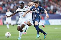 FOOTBALL - FRENCH CHAMPIONSHIP 2012/2013 - L1 - PARIS SAINT GERMAIN VS SOCHAUX - 29/09/2012 - KEVIN GAMEIRO (PARIS SAINT-GERMAIN), JEROME ROUSSILLON (SOCHAUX)