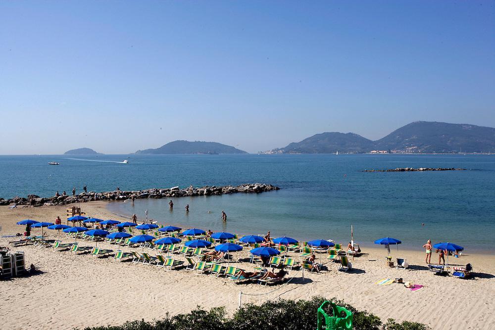 Beach in Lerici, Italy