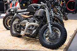 Custom Yamaha at the Custom and Tuning Show, which was part of the big Motor Spring show in Moscow, Russia. Friday April 21, 2017. Photography ©2017 Michael Lichter.