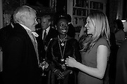 CRAWFORD LOGAN AS SIR WALTER SCOTT; BARONESS FLOELLA BENJAMIN,, HERMIONE EYRE, The Walter Scott Prize for Historical Fiction 2015 - The Duke of Buccleuch hosts party to for the shortlist announcement. <br /> The winner is announced at the Borders Book Festival in Scotland in June.John Murray's Historic Rooms, 50 Albemarle Street, London, 24 March 2015.