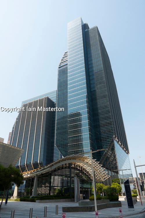 Exterior of Abu Dhabi Global Market and Galleria Shopping mall on Al Maryah Island , Abu Dhabi, United Arab Emirates, UAE
