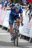 Davide Ballerini of Decininck Quick-Stop crosses the finishing line during the AJ Bell Tour of Britain 2021, stage 7 between Hawick and Edinburgh, Scotland on 11 September 2021.