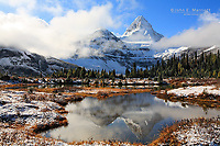 Mount Assiniboine, Mount Assiniboine Provincial Park, BC, Canada in the Canadian Rockies