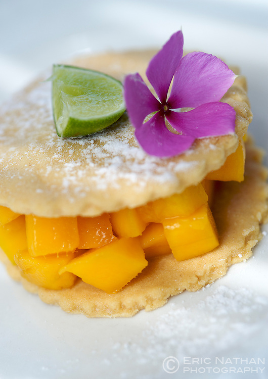 Mango dessert at Guludo beach lodge in the Quirimbas National Park in northern Mozambique.
