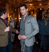 David Gandy, Criterion Restaurant  celebrates its 135th anniversary. Piccadilly Circus. London. 2 February 2010