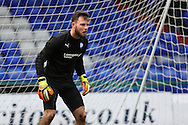 Tommy Lee of Chesterfield  warms up before the Sky Bet League 1 match between Oldham Athletic and Chesterfield at Boundary Park, Oldham, England on 28 March 2016. Photo by Simon Brady.