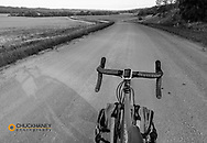 Bicycle touring along the Sheyenne Scenic Byway in southeastern North Dakota, USA