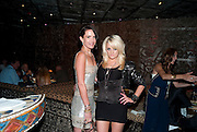 SOPHIE ANDERTON; MAIREAD, Opening of London's largest South african restaurant: Shaka Zulu. Stables amrket. Camden. London. 4 August 2010. <br /> -DO NOT ARCHIVE-© Copyright Photograph by Dafydd Jones. 248 Clapham Rd. London SW9 0PZ. Tel 0207 820 0771. www.dafjones.com.