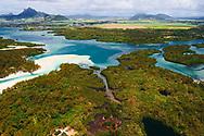 Mauritius Island. Island from air