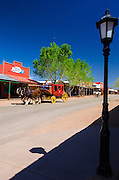 Lamp post and stage coach on Main Sreet, Tombstone, Arizona USA