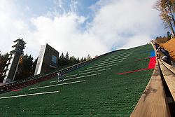 Slovenian summer national championship and opening of the reconstructed Bloudek's hill in Planica on October 14, 2012 in Planica, Ratece, Slovenia. (Photo by Grega Valancic / Sportida)