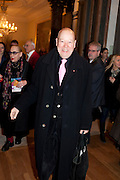 SIMON WILSON, Opening of David Hockney ' A Bigger Picture' Royal Academy. Piccadilly. London. 17 January 2012