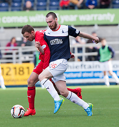Raith Rovers Gordon Smith and Falkirk's Joe Chalmers.<br /> Falkirk 2 v 1 Raith Rovers, Scottish Championship game played today at The Falkirk Stadium.<br /> © Michael Schofield.