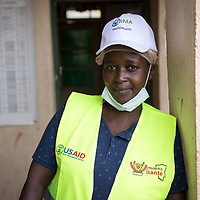 Giselle Katunda, Kyangike is a health worker at clinic in Kyangike in the Butembo area of Congo, DRC. The clinic was part of a network of clinics supported by IMA to respond to and recover from Ebola.<br /> ,