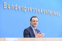 12 FEB 2021, BERLIN/GERMANY:<br /> Jens Spahn, CDU, Bundesgesundheitsminister, Pressekonferenz zur Corona-Lage im Lockdown, Bundespressekonferenz<br /> IMAGE: 20210212-01-010<br /> KEYWORDS: Corvid-19