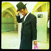Jerusalem, Israel. September 20th 2011.A man on his way to the Western Wall..