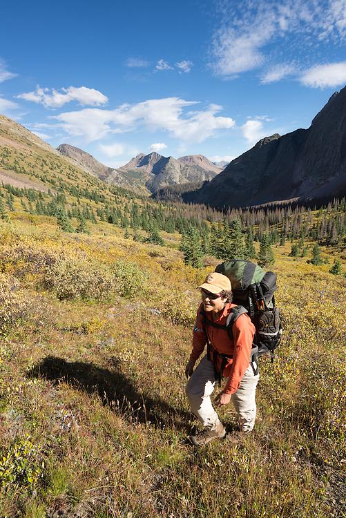 Backpacking in Colorado's Weminuche Wilderness.