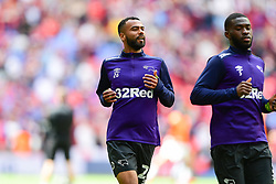 May 27, 2019 - London, England, United Kingdom - Ashley Cole (26) of Derby County warms up during the Sky Bet Championship match between Aston Villa and Derby County at Wembley Stadium, London on Monday 27th May 2019. (Credit: Jon Hobley | MI News) (Credit Image: © Mi News/NurPhoto via ZUMA Press)