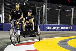 September 13, 2018 - Singapore, Singapore - #3 Daniel Ricciardo (AUS, Aston Martin Red Bull Racing), #33 Max Verstappen (NLD, Aston Martin Red Bull Racing)  Motorsports: FIA Formula One World Championship 2018, Grand Prix of Singapore. (Credit Image: © Hoch Zwei via ZUMA Wire)