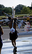 Zagreb, CROATIA.  GBR carrying oars/blades to the boating area.  2000 FISA World Rowing Junior & Non-Olympic Seniors Championships   [Mandatory Credit Peter Spurrier/Intersport Images]