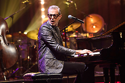 Jeff Goldblum performing during the filming of the Graham Norton Show at BBC Studioworks 6 Television Centre, Wood Lane, London, to be aired on BBC One on Friday evening.