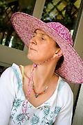 Portrait of Kari Tauring Nordic Roots Author. Svenskarnas Dag Swedish Heritage Day Minnehaha Park Minneapolis Minnesota USA