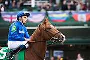 November 2, 2018: Line Of Duty #5, ridden by William Buick, wins the Juvenile Turf on Breeders' Cup World Championship Friday at Churchill Downs on November 2, 2018 in Louisville, Kentucky