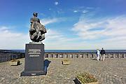 Nederland, Urk, 25-8-2011Zicht op het ijsselmeer. Monument het vissersvrouwtje. Gedenkplaats voor omgekomen zeelieden en vissers.Foto: Flip Franssen/Hollandse Hoogte
