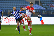 Barry Banian, Matt Smith during the EFL Sky Bet Championship match between Sheffield Wednesday and Millwall at Hillsborough, Sheffield, England on 7 November 2020.
