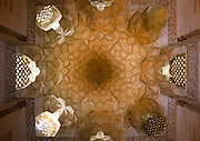 Stunning photographs reveal the beautiful ceilings in Iran's mosques, bazaars and public baths<br /> <br /> For the past few decades, restrictions on travel to Iran has meant the country has been largely shut off from the Western world, butas visa sanctions are lifted in the light of a landmark nuclear deal, the local tourism industry is hoping for a flurry of visitors.<br /> It's not hard to see why Iran is listed as one of the top travel destinations of 2016, with its rich culture and history.<br /> Among the standout aspects of the nation is its beautiful ancient architecture, with the cities and towns littered withornate and eye-catching mosques, public baths and markets.<br /> And unlike many other countries - the roof is not an afterthought, with many ceilings built as the centrepiece to the building, with many of the tile designs showcasing a display of intricate geometric patternsthatdate back several centuries.<br /> French photographerEric Lafforgue has travelled the country photographing the ceilings of indoor markets, mosques and bath houses.<br /> <br /> Photo shows: The ceiling in Jameh Mosque, Natanz. The mosque is one of the best-preserved of all Ilkhanid-era buildings