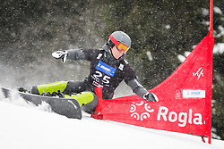 Sebastian Kislinger (AUT) competes during Qualification Run of Men's Parallel Giant Slalom at FIS Snowboard World Cup Rogla 2016, on January 23, 2016 in Course Jasa, Rogla, Slovenia. Photo by Ziga Zupan / Sportida