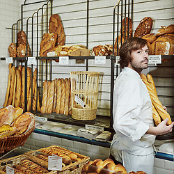 PARIS, FRANCE. FEBRUARY 7, 2013. Baker Gontran Cherrier in the first bakery he opened in Paris a few years ago. Photo: Antoine Doyen