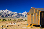 Barracks at Manzanar National Historic Site, Lone Pine, California USA