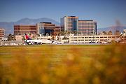 Delta Airplane On The Runway At John Wayne Airport
