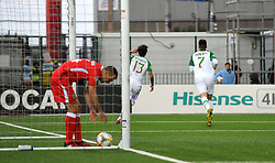 Republic of Ireland's Jeff Hendrick (centre) celebrates scoring his side's first goal of the game with team mates during the UEFA Euro 2020 Qualifying, Group D match at the Victoria Stadium, Gibraltar.