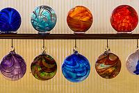 Handblown glass, Garden City Glass at Jewell Gardens, Skagway, Alaska USA.