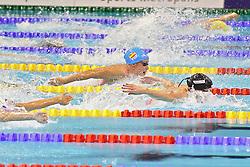 18.08.2014, Europa Sportpark, Berlin, GER, LEN, Schwimm EM 2014, 400m Lagen, Damen, Finale, im Bild Belmonte Garcia (Spanien) knapp hinter Katrinka Hosszu (Ungarn) // during the women's 100m 400m Medley final round of the LEN 2014 European Swimming Championships at the Europa Sportpark in Berlin, Germany on 2014/08/18. EXPA Pictures © 2014, PhotoCredit: EXPA/ Eibner-Pressefoto/ Lau<br /> <br /> *****ATTENTION - OUT of GER*****