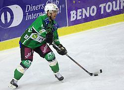 Kevin Mitchell at 39th Round of EBEL League ice hockey match between HDD Tilia Olimpija and HK Acroni Jesenice, on December 30, 2008, in Arena Tivoli, Ljubljana, Slovenia. Tilia Olimpija won 4:3. (Photo by Vid Ponikvar / SportIda).
