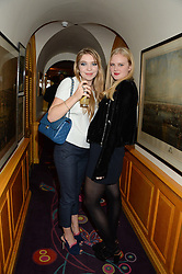 SASHA MCLAREN WEBSTER and ISSY WILSON at Tatler Magazine's Little Black Book Party held at Annabel's, Berkeley Square, London on 5th November 2013.