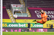Burnley goalkeeper Will Norris (25) makes a save during the FA Cup match between Burnley and Milton Keynes Dons at Turf Moor, Burnley, England on 9 January 2021.