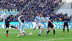 March 10, 2019 - Milano, Italia - Foto Spada/LaPresse.10 Marzo 2019 Milano ( Italia ).sport calcio.Inter vs Spal - Campionato di calcio Serie A TIM 2018/2019 - Stadio San Siro .Nella foto:  Gagliardini gol 2-0..Photo Spada/LaPresse.March 10 , 2019 Milan ( Italy ).sport soccer.Inter vs Spal - Italian Football Championship League A TIM 2018/2019 - San Siro Stadium.In the pic:  Gagliardini goal 2-0. (Credit Image: © Spada/Lapresse via ZUMA Press)