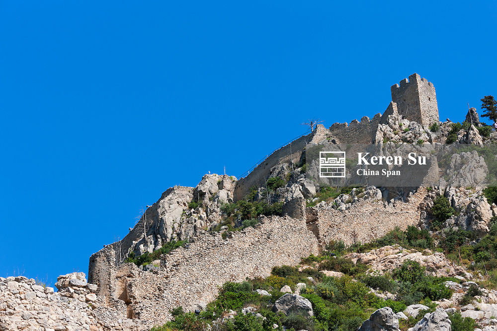St. Hilarion Castle in Kyrenia distric, Turkish Republic of Northern Cyprus