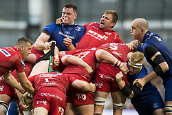May 27, 2018 - Dublin, Ireland - Leinster and Scarlets players in action during the Guinness PRO14 Final match between Leinster Rugby and Scarlets at Aviva Stadium in Dublin, Ireland on May 26, 2018  (Credit Image: © Andrew Surma/NurPhoto via ZUMA Press)