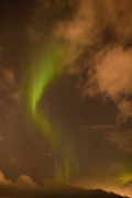 Aurora Borealis or Northern Lights over Repparfjord, in Finnmark, Northern Norway.
