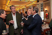 VISCOUNT LINLEY; JEREMY CLARKSON; HUGO DE FERRANTI; A.A. GILL, Vanity Fair Lunch hosted by Graydon Carter. 34 Grosvenor Sq. London. 14 May 2013