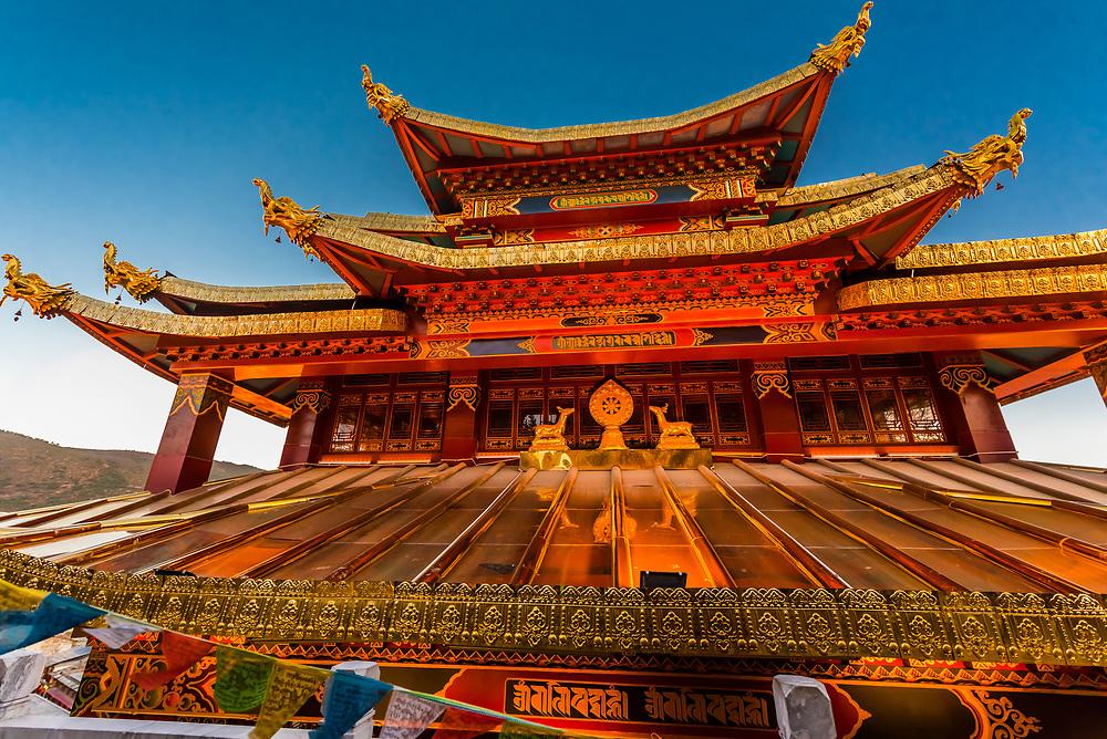Guishan Gongyuan Temple, Shangri La (Zhongdian), Yunnan Province, China.