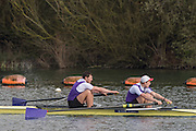 Caversham. Berkshire. UK<br /> Men's pair, Patrick BOOMER and Charles MIDDLETON, competing at the 2016 GBRowing U23 Trials at the GBRowing Training base near Reading, Berkshire.<br /> <br /> Monday  11/04/2016 <br /> <br /> [Mandatory Credit; Peter SPURRIER/Intersport-images]