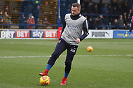 AFC Wimbledon midfielder Dean Parrett (18) warming up during the EFL Sky Bet League 1 match between AFC Wimbledon and Northampton Town at the Cherry Red Records Stadium, Kingston, England on 10 February 2018. Picture by Matthew Redman.