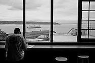 2011 August 30 - Ferry on Elliott Bay seen from Pike Market, Seattle, WA, USA. Copyright Richard Walker
